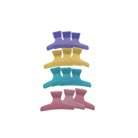 Butterfly Clamp  Assorted Colours 12Pk