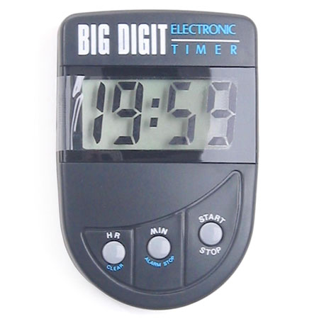 Timer Big Digit Black