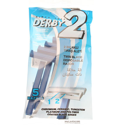 Derby Samurai 3 Swivel Triple Blade 5Pc