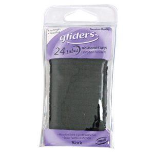 Gliders Tubes Metal Free Black Small 24Pcs