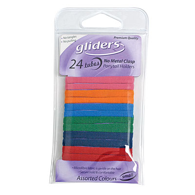 Gliders Tubes Metal Free Assorted Colour 24Pcs