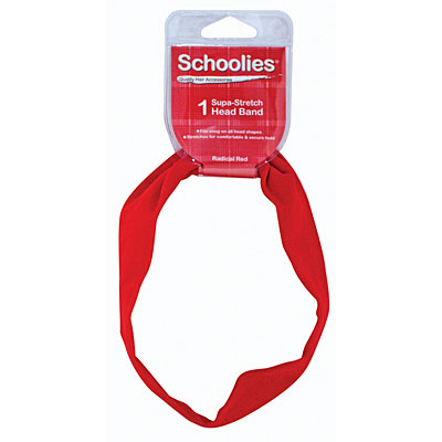 Schoolies Headband Red