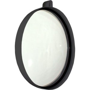 Mirror Round Hand Large Black