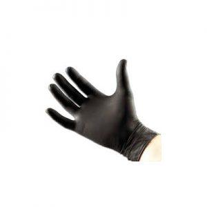 Black Satin Ultra Gloves Lge 10 Pack