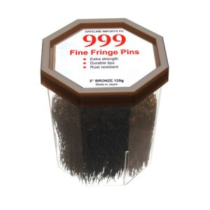 "999 Fine Fringe Pins 2"" Bronze"