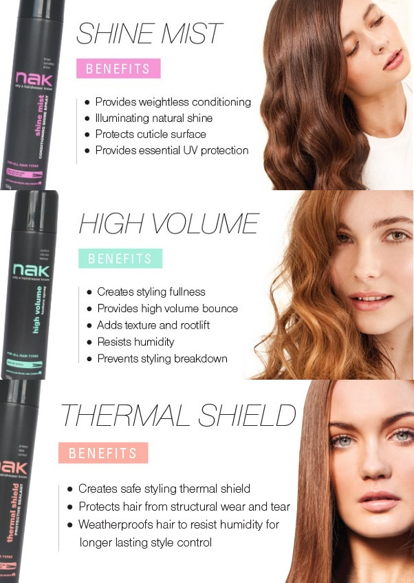 Nak Styling Trio Shine Thermal Volume