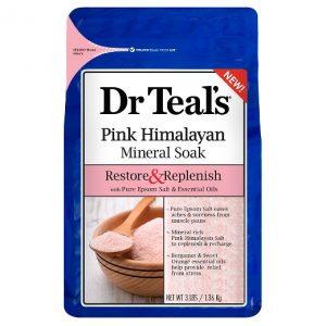 Dr Teals Restore & Replenish Pink Himalayan Salt
